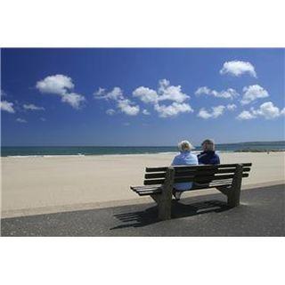 Elderly couple on the beach
