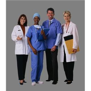 Four Hospital Workers standing