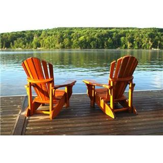 Two Chairs next to the Lake