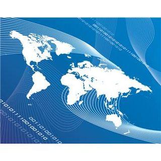 Earth Map with Binary Code