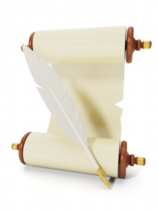 Parchment with Quill