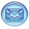 Blue email envelope